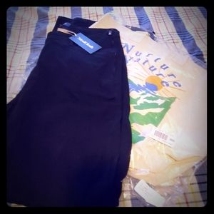 Modcloth Black Cotton Pants 1X + Tote Bag